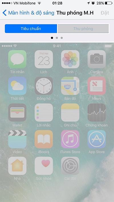 Cách phóng to, thu nhỏ biểu tượng trên iPhone (1)