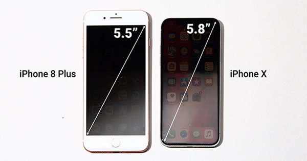So sánh thiết kế iPhone 8 Plus và iPhone X