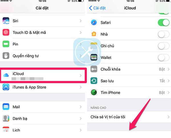 Cách lấy lại danh bạ bị mất trên iPhone bằng iCloud