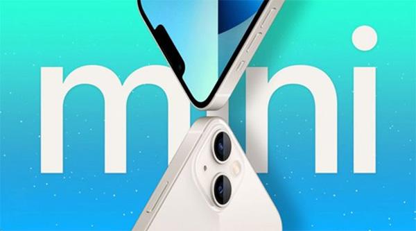 iPhone 13 mini màu trắng.