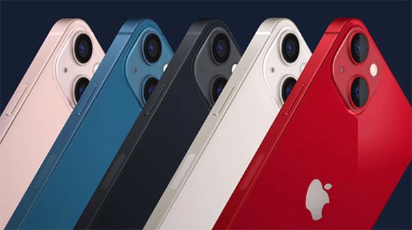 Các tùy chọn màu sắc của iPhone 13 mini.